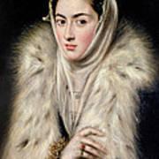 Lady In A Fur Wrap Art Print