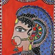 Lady In Ornaments Art Print by Shakhenabat Kasana