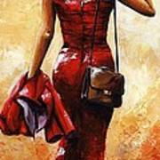 Lady In Red #25 Art Print