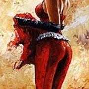 Lady In Red 26 Art Print