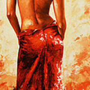 Lady In Red 27re Large  Art Print