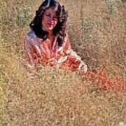 Lady In The Grass - Vert Art Print
