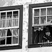 Lady In The Window II Art Print