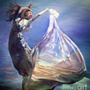 Lady In Water Oil On Canvas Painting Realsim  Art Print