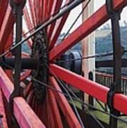 On The Isle Of Man, Lady Isabella Wheel Close Up Art Print