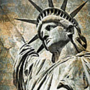 Lady Liberty Vintage Art Print by Delphimages Photo Creations