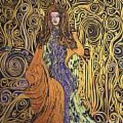 Lady Of Swirl Art Print