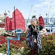 Lady Pirate And Friend Art Print