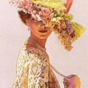 Lady Victoria Victorian Elegance Art Print by Sue Halstenberg