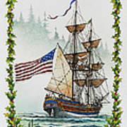Lady Washington And Holly Art Print