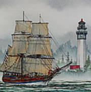 Lady Washington At Grays Harbor Art Print by James Williamson