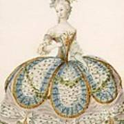 Lady Wearing Dress For A Royal Art Print