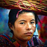 Lady With A Basket Art Print