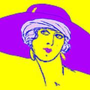 Lady With Hat 1c Art Print