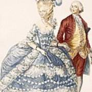 Lady With Her Husband Attending A Court Art Print