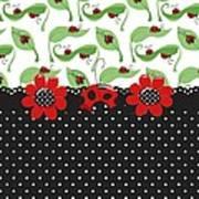 Ladybug Flower Power Art Print