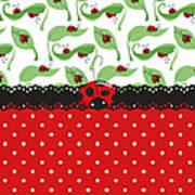 Ladybug Impression Art Print