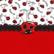 Ladybug Sweet Surprises  Art Print