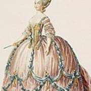 Ladys Gown For The Royal Court Art Print