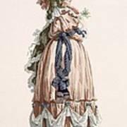 Ladys Summer Walking Gown, Engraved Art Print