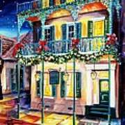 Lafitte Guest House At Christmas Art Print