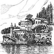 Lago Di Como-lenno - Vila Del Bilbianello Art Print