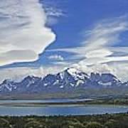 Lago Sarmiento And The Paine Massif Art Print