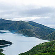 Lagoa Do Fogo Panoramic View Art Print
