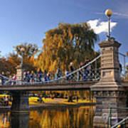 Lagoon Bridge In Autumn Art Print by Joann Vitali