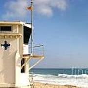 Laguna Beach Lifeguard Tower Art Print