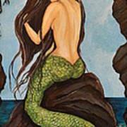 Laguna Beach Mermaid Marina Art Print
