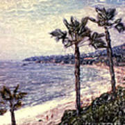 Laguna Beach Palm Vista Art Print