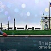 Laguna Living-lifeguard Station Art Print