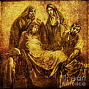 Laid_in_the_tomb Via Dolorosa 14 Art Print by Lianne Schneider