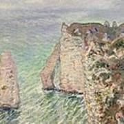 Laiguille And The Porte Daval   Etretat Art Print
