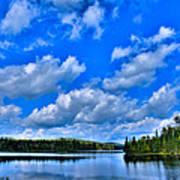Lake Abanakee In The Adirondacks Art Print by David Patterson