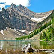 Lake Agnes In Banff Np-alberta Art Print