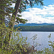 Lake Alva From National Forest Campground Site-yt Art Print