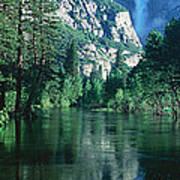 Lake And Trees, California Art Print