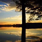Lake At Sunrise Art Print
