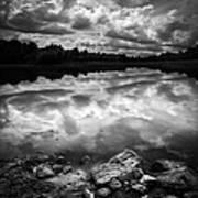 Lake Auburn Twilight Art Print