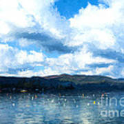 Lake Background Art Print