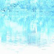 Lake Blue Art Print