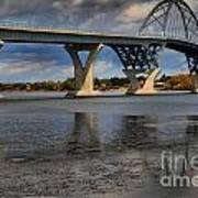 Lake Champlain Tied Arch Bridge Art Print