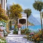 Lake Como-la Passeggiata Al Lago Art Print