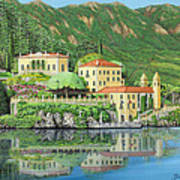 Lake Como Morning Art Print
