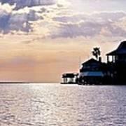 Lake Como On The Gulf Coast Sunset Art Print