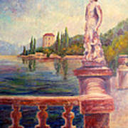 Lake Como View Art Print