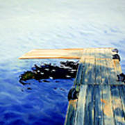 Lake Dock Art Print by Paula Marsh