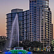 Lake Eola Water Fountain  Art Print